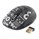 Мышь беспроводная USB 2000dpi, 15м, черная