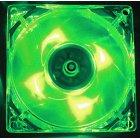 Вентилятор 80x80x25мм, 3pin, Led -Green