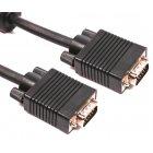 Кабель Premium VGA 5м.15M/15M, 2 феррита, блистер