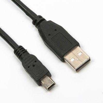 Кабель Мини USB2.0 AM/5P 1.8м, черный, блистер (1 из 2)