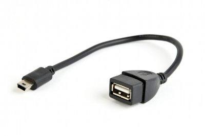 Кабель OTG USB2.0, A-мама/mini B-папа, 0.15 м (1 из 2)
