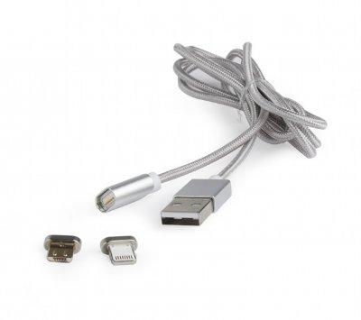 Кабель USB 2.0 BM-папа/Lightning/Micro USB, 1.0 м (1 из 5)