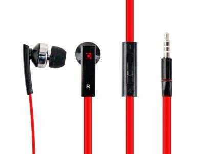 Вакуумные наушники с микрофоном, черный цвет (1 из 8)