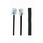 Телефонный спиральный кабель для трубки TC4P4CS-2M , 4P4C, 2 метра