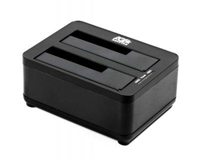 Док-станция, USB3.0 2 слота, черная (1 из 3)