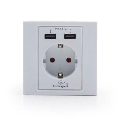 Розетка с USB зарядкой MWS-ACUSB2-01 (1 из 4)