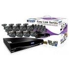 Комплект видеонаблюдения. Подключение 16 камер (в комплекте 8). Автонастройка по QR-коду.