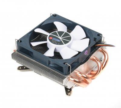 Кулер универсальный, Intel/AMD, 2 heatpipes, PWM, Ultra profile (1 из 4)