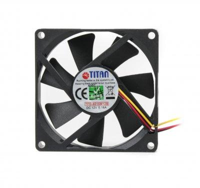 Вентилятор 80x80x15мм, 3c/3p, 2-ball (1 из 2)