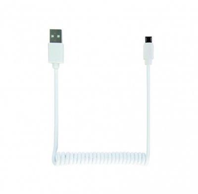 Кабель micro спиральный  USB 2.0 A-папа/Micro B-папа (1 из 5)