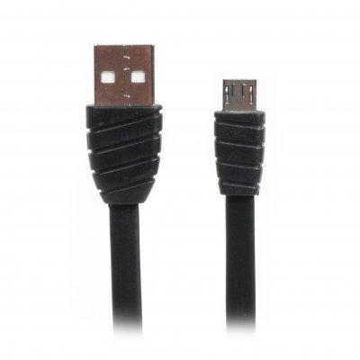 Кабель micro USB 2.0 A-папа/Micro B-папа, премиум, плоский, 2.4А (1 из 3)