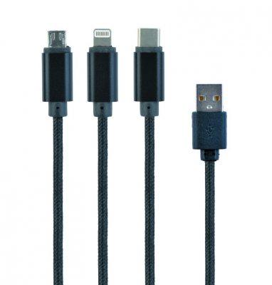 Кабель для зарядки USB  BM-папа/Lightning/Micro/Type-C USB, 1.0 м (1 из 2)