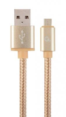 Кабель USB2.0, A-папа/micro B-папа, 1.8 м, с оплеткой и металлическими разъемами (1 из 3)