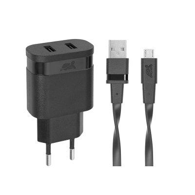 Сетевое ЗУ, USB, 1 порта, кабель micro USB (1 из 4)