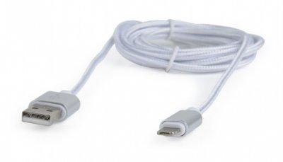 Кабель USB2.0, A-папа/Lightning+microUSB, 1.8 м, с оплеткой и металлическими разъемами (1 из 4)
