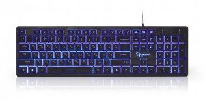 Клавиатура 3-х цветное подсветка клавиш, черный цвет, RU (1 из 4)