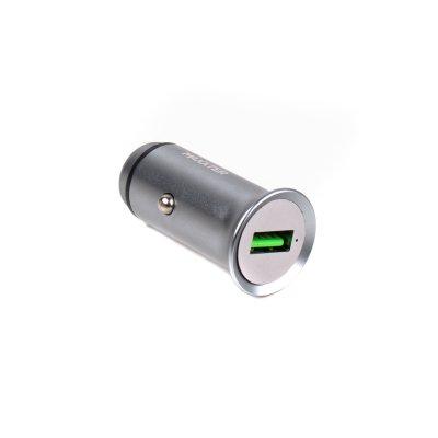 Зарядное устройство от автомобильного прикуривателя, (быстрая зарядка Qualcomm) 5V/3,6A-9V/2A-12V/1.5A, Серый (1 из 3)