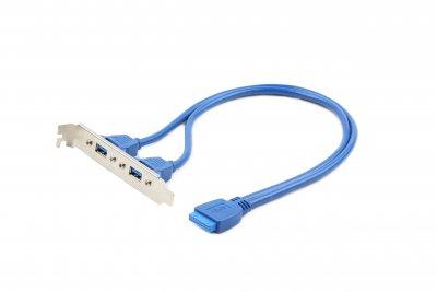 USB 3.0 розетка на кронштейне 10P, длина шнура 45 см (1 из 3)
