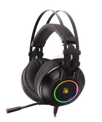 Наушники игровые с микрофоном, Hi Fi, 7.1 виртуальный звук, RGB подсветка, USB (1 из 2)