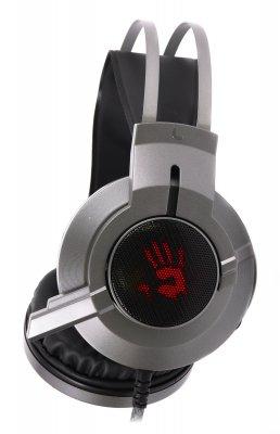 Наушники Bloody игровые с микрофоном (шумоподавление), неоновая подсветка 7 цветов, USB (1 из 4)