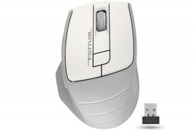 Мышь беспроводная A4tech Fstyler, USB, 2000dpi, (Grey+White) (1 из 5)