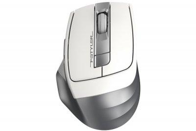 Мышь беспроводная A4tech Fstyler, USB, 2000dpi, (Silver+White) (1 из 5)