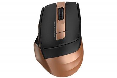 Мышь беспроводная A4tech Fstyler, USB, 2000dpi, (Bronze+Black) (1 из 6)