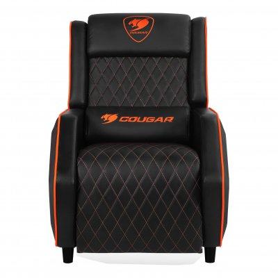 Кресло-софа, дышащая экокожа, стальной каркас, черный (1 из 5)