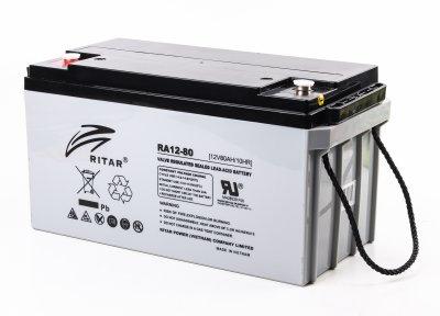 Аккумуляторная батарея 12В 80Aч (1 из 3)