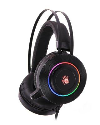 Наушники игровые с микрофоном, Hi Fi, 7.1 виртуальный звук, подсветка 7 цветов, USB (1 из 5)