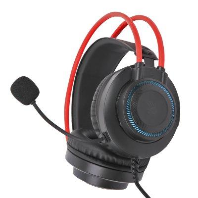 Наушники игровые с микрофоном, подсветка 7 цветов (1 из 5)