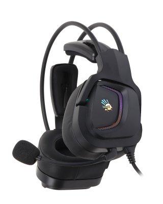 Наушники игровые с микрофоном, Hi Fi, 7.1 виртуальный звук, RGB подсветка, USB (1 из 8)
