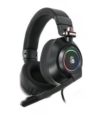 Наушники игровые с микрофоном, складная конструкция, 7.1 виртуальный звук, RGB подсветка, USB (1 из 6)