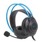 Наушники с микрофоном, Fstyler USB Stereo Headphone, Grey+ Blue